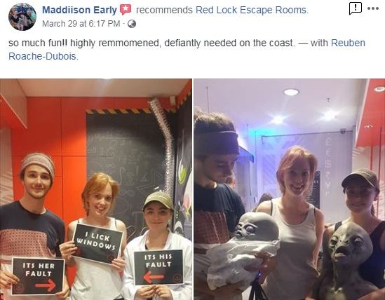 Red Lock Escape Room's first week of reviews!