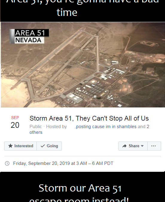 Feds warn against storming Area 51